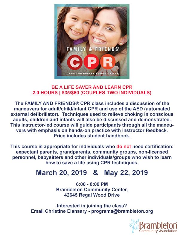 Friends and Family CPR Flyer
