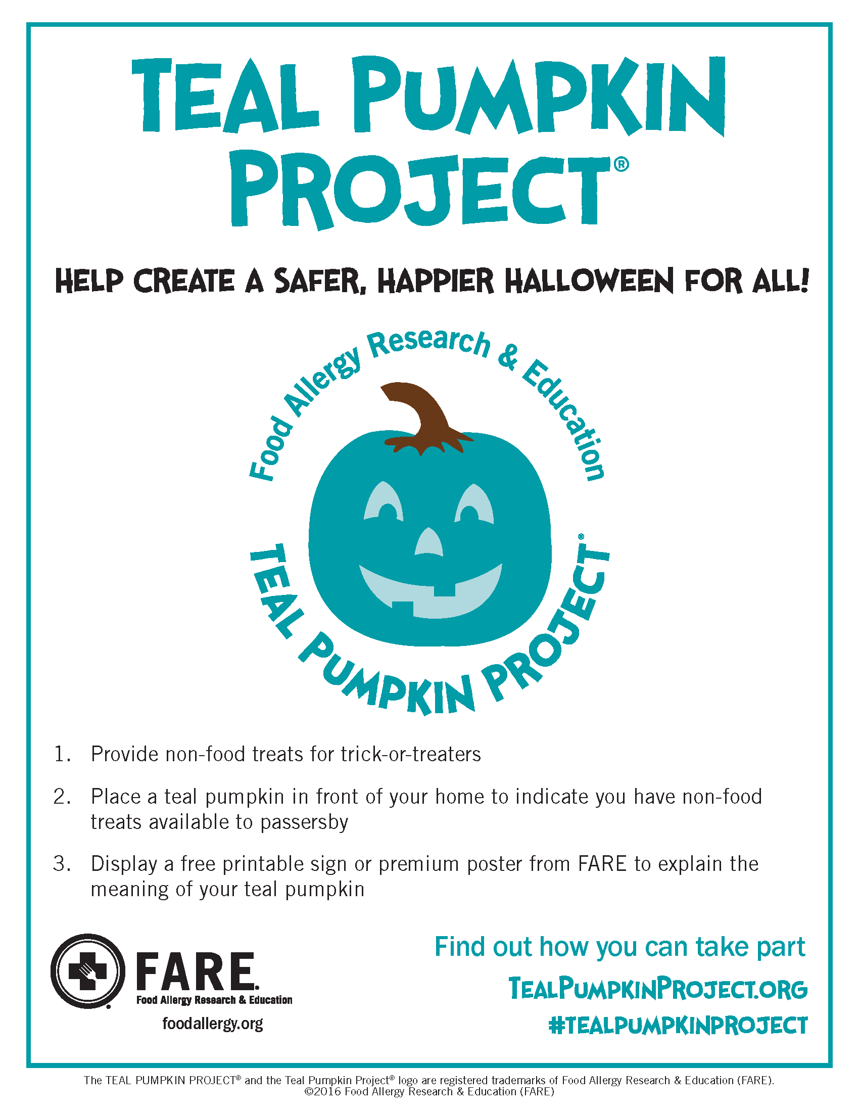 Teal Pumpkin Flyer