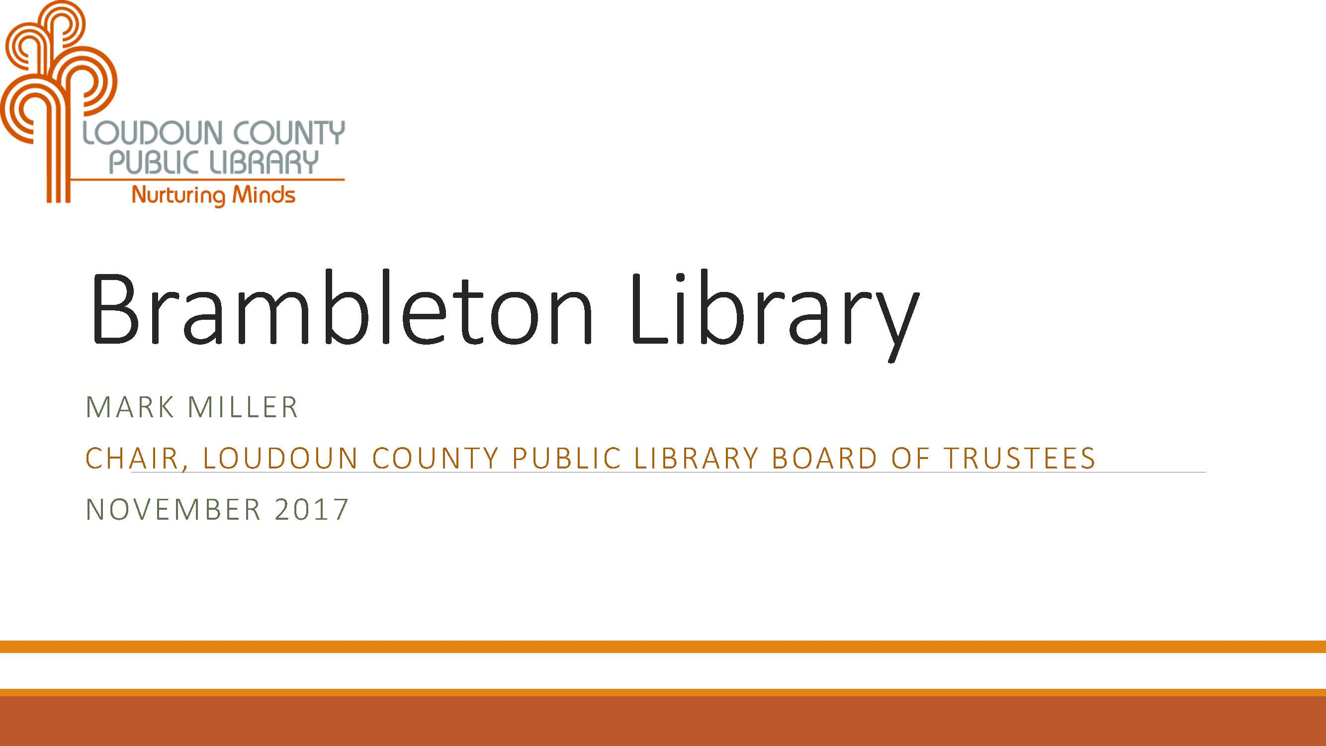 Brambleton Library First Slide
